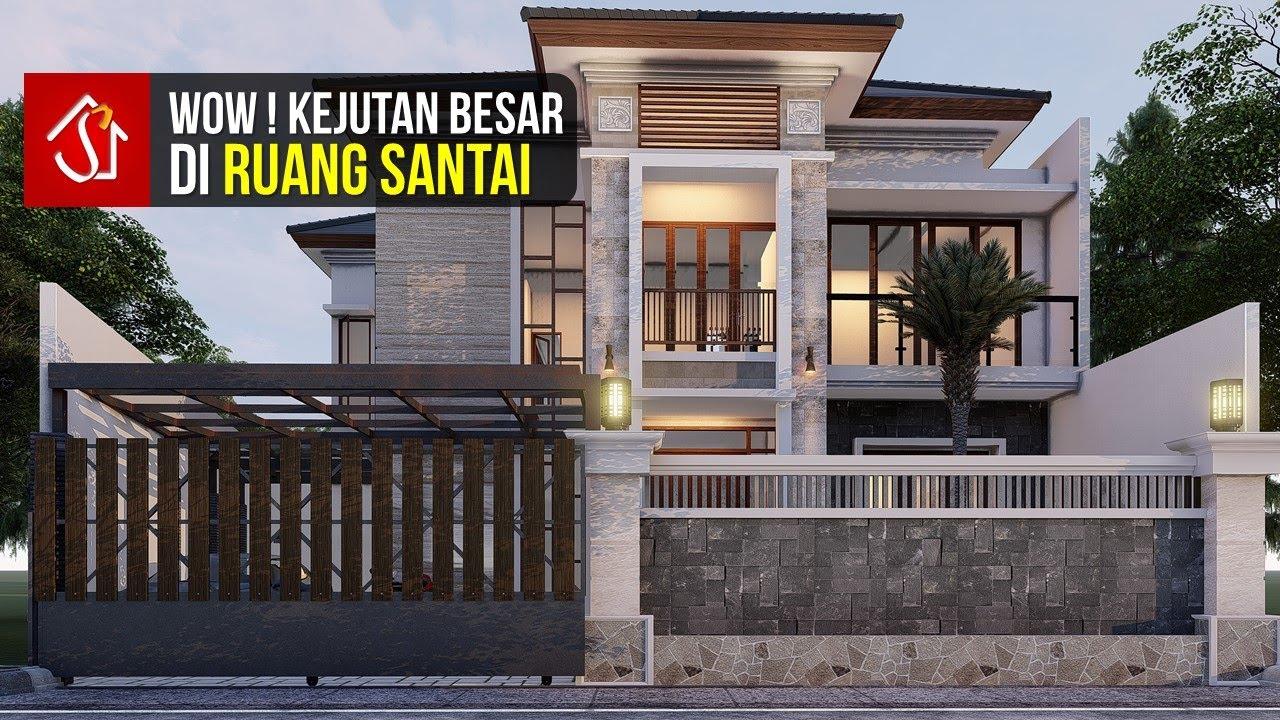 Mengintip Pesona Desain Rumah Tropis Modern 2 Lantai 4 Kamar Di Lahan 13 X 17 M Youtube