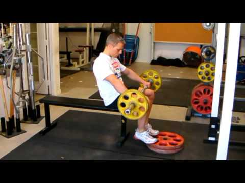 Seated Barbell Calf Raise Exercise