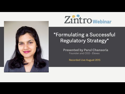 """Formulating a Successful Regulatory Strategy"""