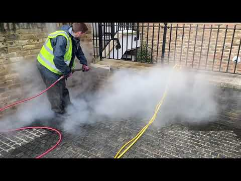 Doff steam cleaning brickwork