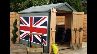 8x6 Groundsman Shed - Custom Paint - Union Jack - Mercia Garden Products