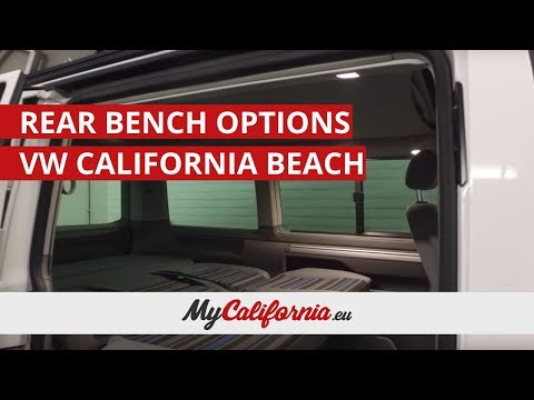 Which to choose? The rear seat/bed options in a VW California Beach.