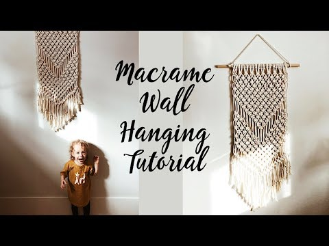Macrame Wall Hanging Tutorial (for beginners) thumbnail
