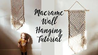 Macrame Wall Hanging Tutorial (for beginners)