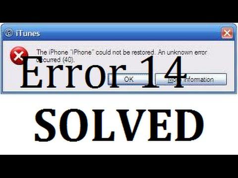 Error 14 Iphone 5s Fix with bluescreen