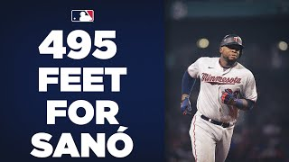 495 FEET!!! Miguel Sanó launches the longest homer of the season so far!