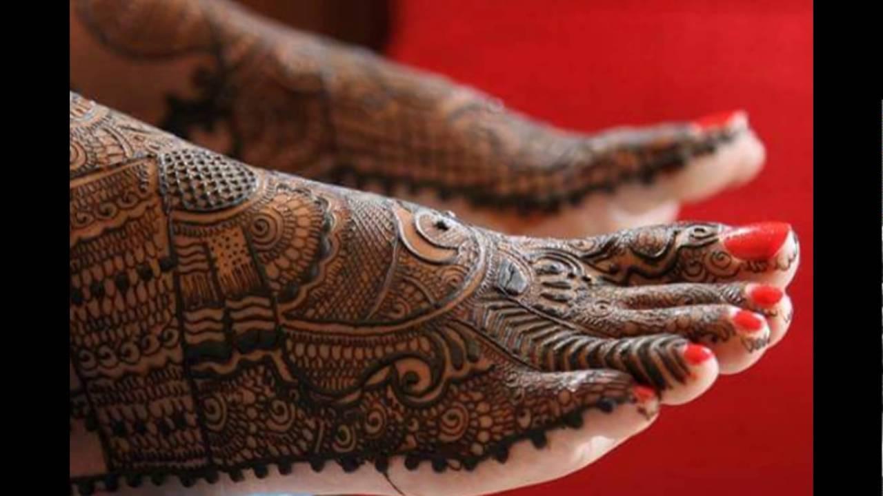 Bridal Mehndi New Latest Design : New bridal mehandi designs for legs youtube