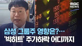 삼성 그룹주 영향은?…'빅히트' 주가하락 어디까지 (2020.10.26/뉴스투데이/MBC)
