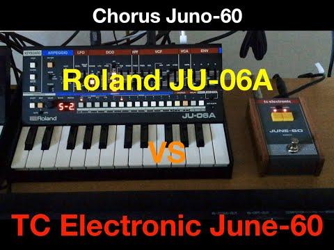 Chorus Roland JU-06A vs tc electronic June-60 (100% son/sound)