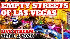 Las Vegas Strip a Ghost Town April 4, 2020
