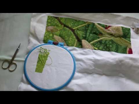 Вышивка Орхидеи (Первый раз на ютубе:) )