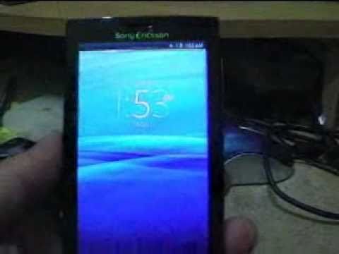 sony ericsson xperia x10 with recovery menu doovi. Black Bedroom Furniture Sets. Home Design Ideas