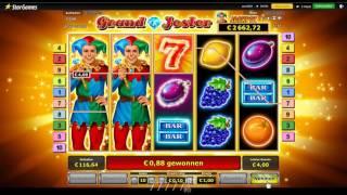 1 Euro Freispiele beim neuen Grand Jester Novoline StarGames Spielautomat