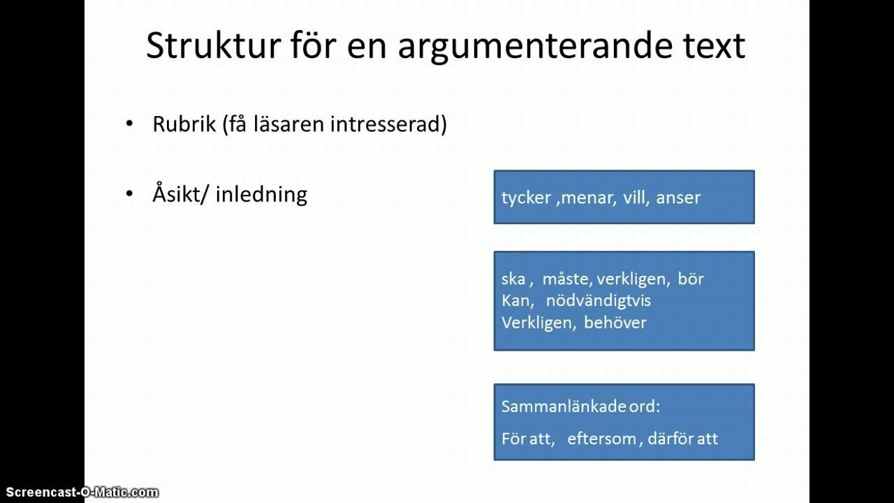 Argumenterande text - YouTube