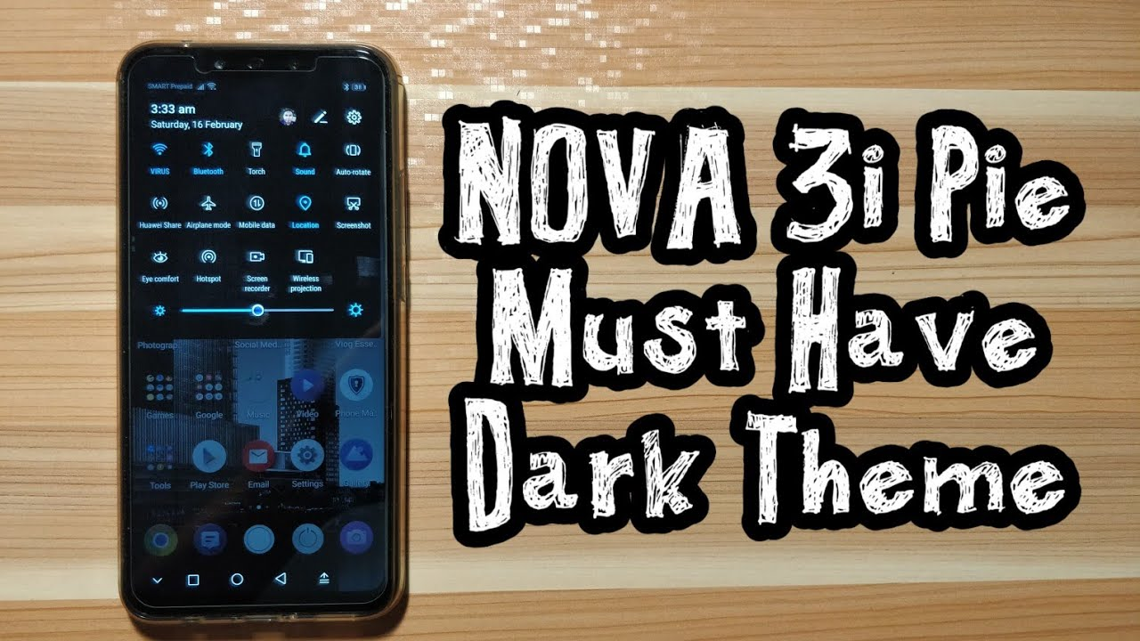 Must have Nova 3i Android Pie Dark Theme