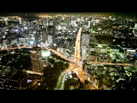 Tokyo City centre view by night from the Tokyo Tower Observatory