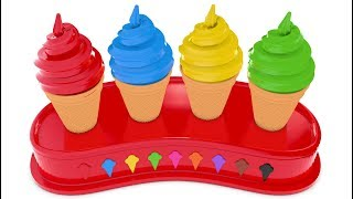 Learn Colors with 3D Soft Ice Cream for Children - Colours for Kids to Learn screenshot 3