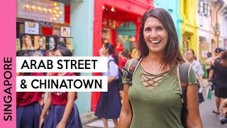 SINGAPORE tour at Arab Quarter and Chinatown | Haji Lane, Sultan Mosque & more