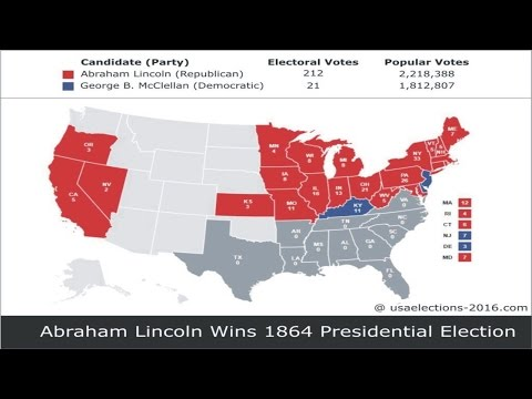1864 US Presidential Election Result