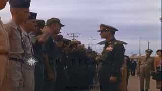 Stock Footage King Bhumibol inspects Royal Thai Air Force and United State part2