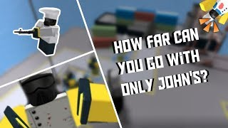 How far can you go with only JOHN'S [ROBLOX Tower Defense Simulator]