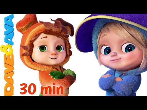 🍁 Halloween Songs Collection | Nursery Rhymes + More Kids Songs for Halloween from Dave and Ava 🍁