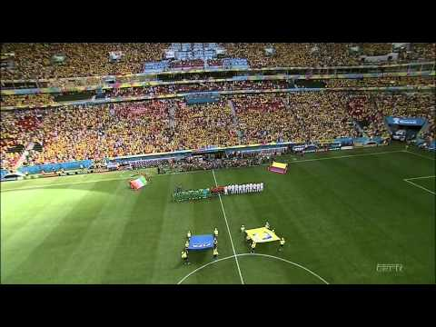 Colombia vs Côte d'Ivoire World Cup 2014 national anthems