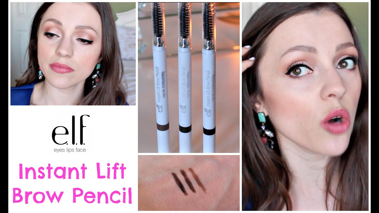 Elf Instant Lift Brow Pencil 2 Review Demo Swatches Youtube