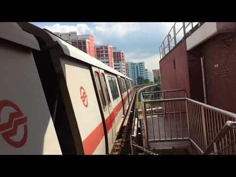 SMRT Trains NSL Siemens C651 215/216 departing Choa Chu Kang (Northbound)