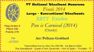 TT Steelband Panorama 2014 - Large Finals. Exodus - Pan is Carnival (Arr by Pelham Goddard)