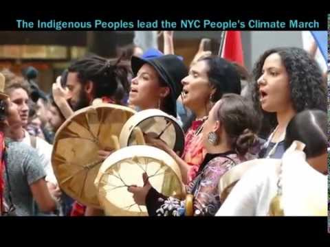 The Peoples Climate March Sept 2014  NYC- on  to Lima