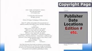 Finding Citation Info- Books