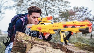 LTT Game Nerf War : Winter Warriors SEAL X Nerf Guns Fight Criminal group Rocket Stryfe Mod