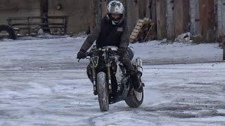 Покатушки зимой на мото.  / Riding A Sportbike In The Winter!!