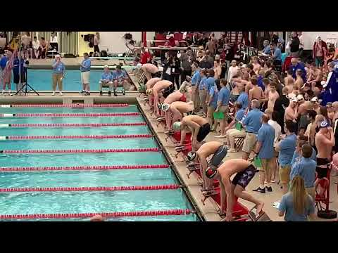 "Thomas ""Quin"" Woods 100yd Breaststroke Nebraska State Swimmi"