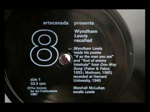 Marshall McLuhan Recalls Wyndham Lewis, Part 1