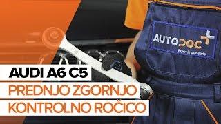 Kako zamenjatiprednjo zgornjo kontrolno ročico prednjega vzmetenjanaAUDI A6 C5 [VODIČ]