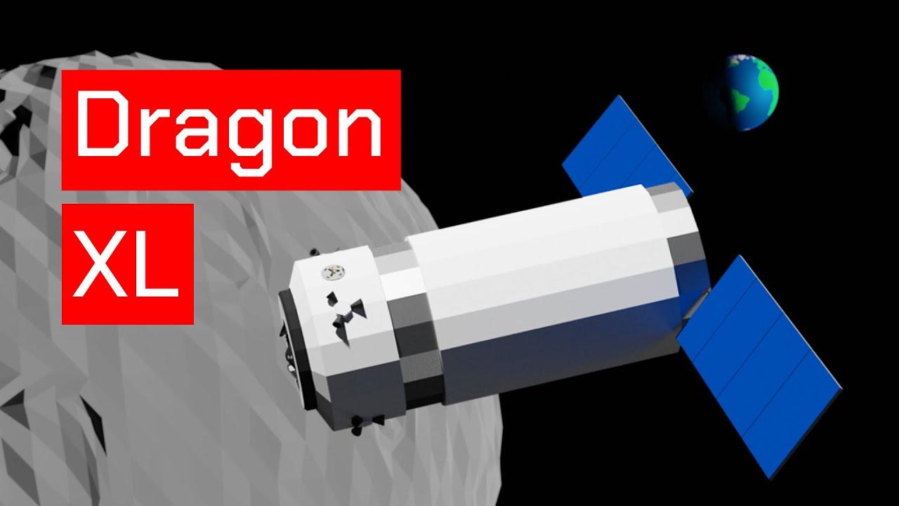 SpaceX Dragon XL Animation