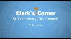 St. Petersburg Clerk's Corner May 2016