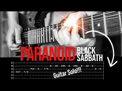 Paranoid Guitar Solo Lesson - Black Sabbath (with tabs)