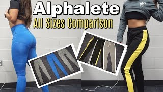 Alphalete All Sizes Try-on and Side-by-side Comparisons