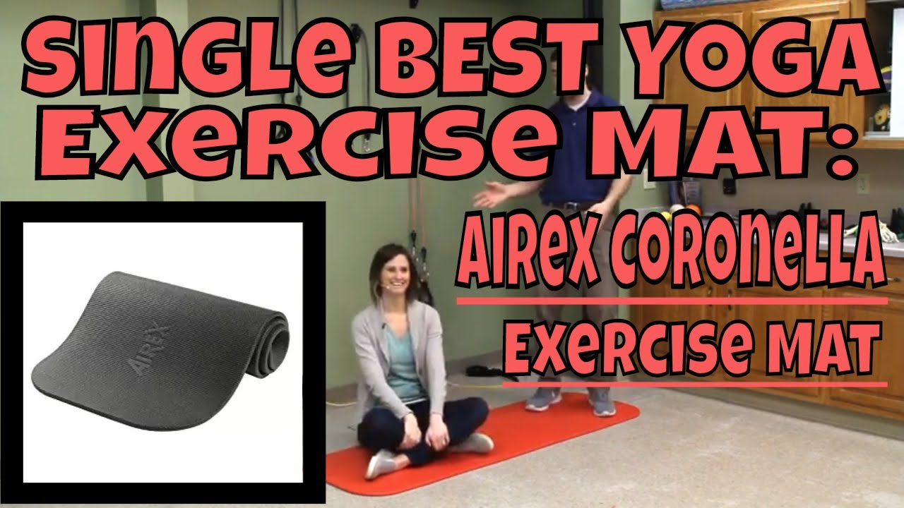 Single Best Yoga Exercise Mat Airex Coronella Exercise Mat Youtube