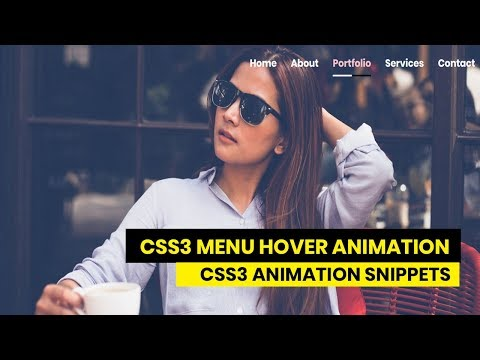 CSS3 Menu Hover Animation   CSS3 Animation Snippets   Tutorial for beginners