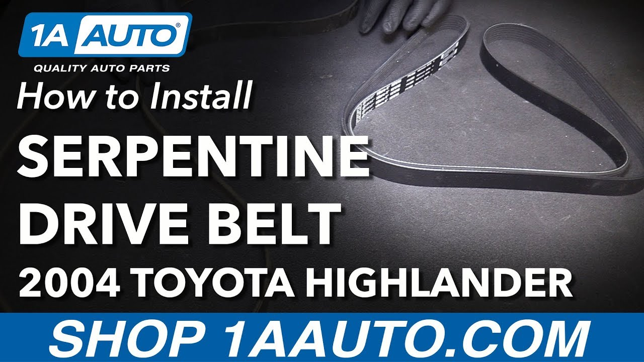 How To Install Replace Serpentine Drive Belt 2001 07 Toyota Use This Diagram The For A 2003 Highlander L4 24l