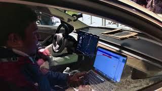 You You Xue Model 3 Road Trip visits Dedham MA