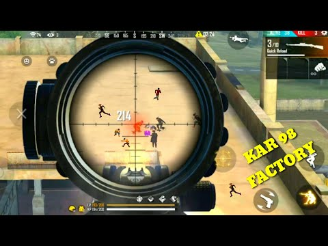 Free Fire kar 98 in bounty- factory roof new updates gameplay/factory king tricks [Garena free fire]