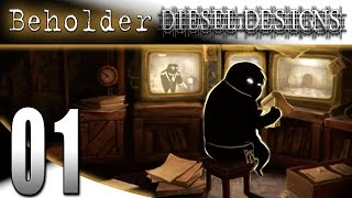 Beholder Gameplay : EP1 : We Spy, We Report!  The Beginning! (HD PC Let