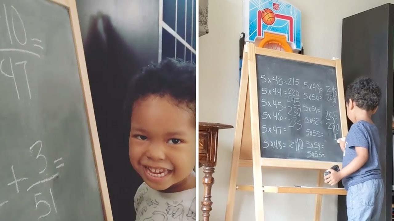 Smart Toddler Is Math Genius!