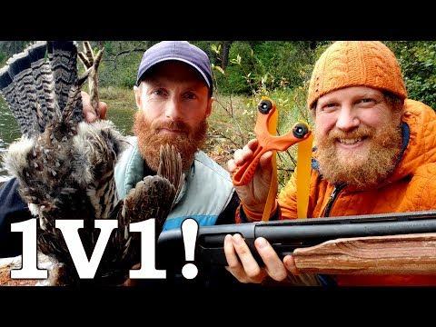 Who Wins?!? 1v1 PRIMITIVE Slingshot Vs MODERN Shotgun In Bird COMPETITION! Ep6