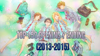 ESPECIAL 150 SUB / TOP 150 OPENING & ENDING ANIME (2013-2015)